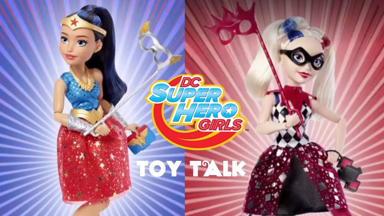 914722c50975f7 DC SUPER HERO GIRLS MASQUERADE MASK WONDER WOMAN   HARLEY QUINN DOLLS