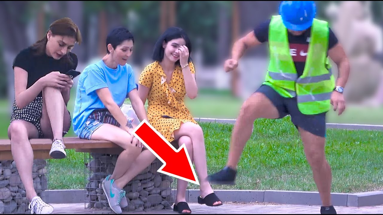 ? Stepping over nothing prank - AWESOME REACTIONS -Best of Just For Laughs ??
