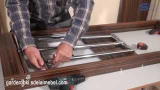 Встроенная гладильная доска за зеркалом своими руками. 5-я часть. Сборка конструкции