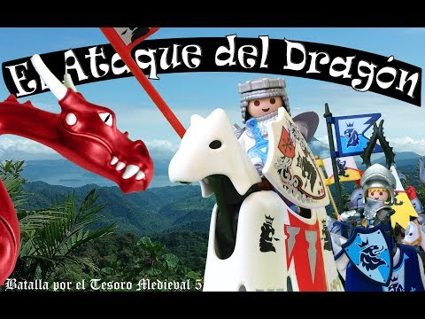 Playmobil Batalla por el Tesoro Medieval 5 El ataque del Dragon