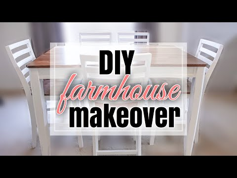 DIY FARMHOUSE FURNITURE MAKEOVER