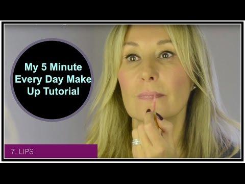 Five Minute Fast Face Make Up Tutorial  - Nadine Baggott