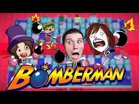 Paluten,Zombey,GLP & Maudado werfen mit BOMBEN  | Bomberman