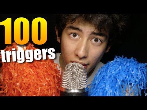 100 ASMR TRIGGERS IN 10 MINUTES CHALLENGE (4K)