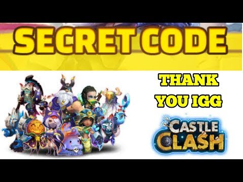 Castle Clash Secret Codes For My Subs