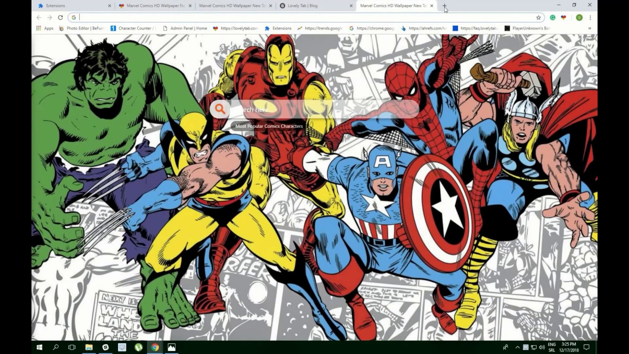 Marvel Comics Hd Wallpapers For Chrome For Free