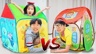뽀로로 장난감이 나오는 마법의 텐트가 있어요! 뽀로로텐트 장난감 마트놀이 Playhouse Tent Toy