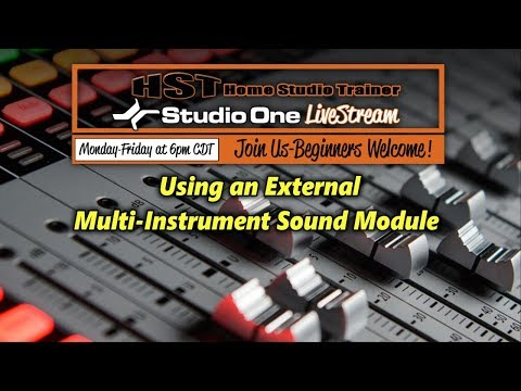 Using an External Multi-Instrument Sound Module in PreSonus Studio One 3