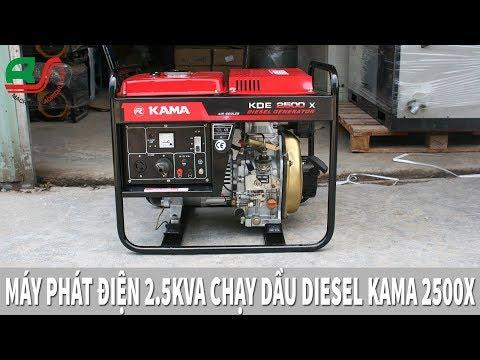 Máy Phát Điện 2Kw Chạy Dầu KAMA KDE2500X Trung Quốc Nội Địa Giá 7 Triệu