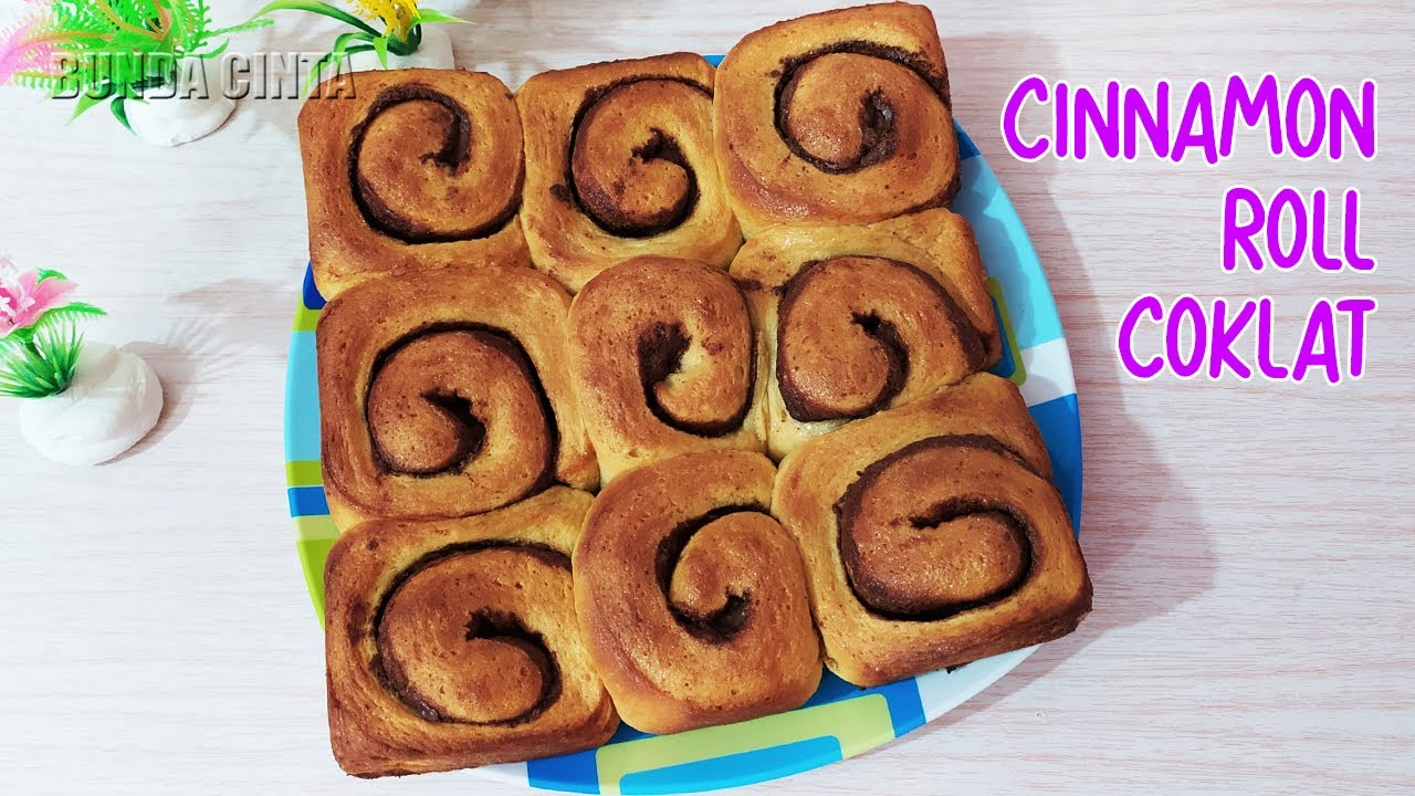 Roti Gulung Kayu Manis | ROTI CINNAMON ROLL COKLAT