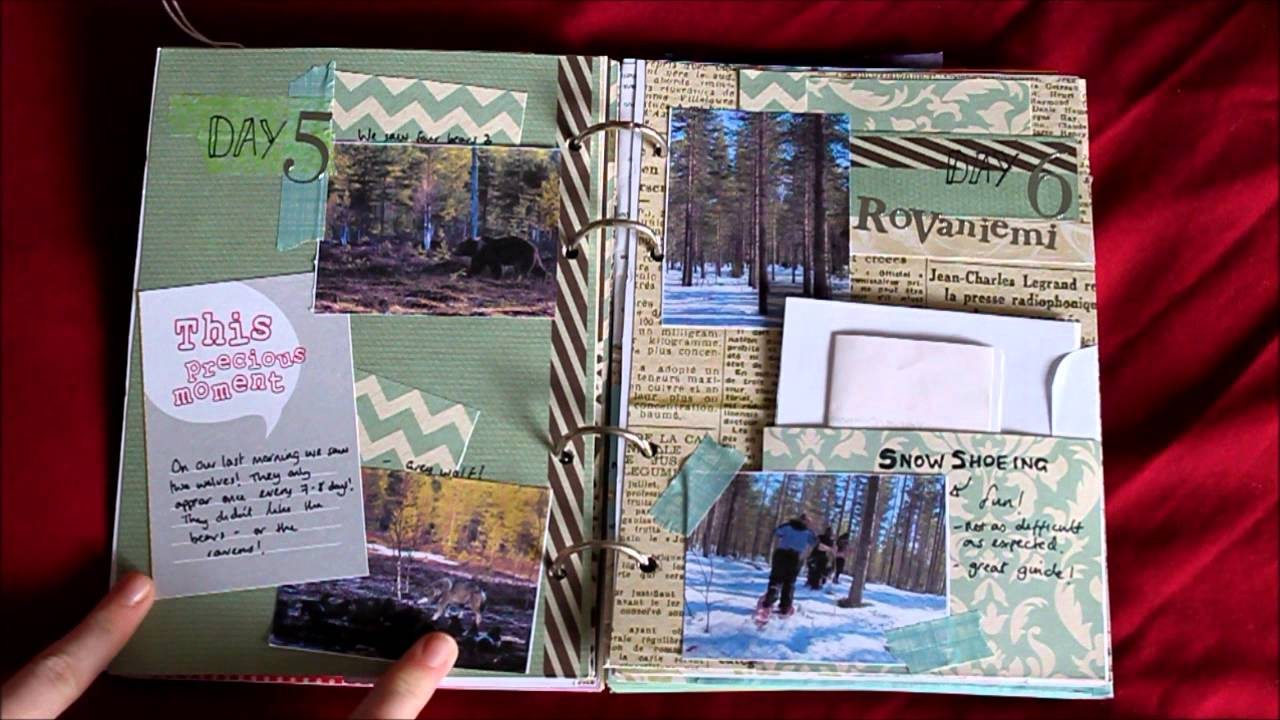 homemade travel journal flip through youtube