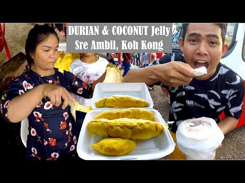 Durians at Koh Kong & Sre Ambil Circle in Cambodia   We Travel from Koh Kong to Phnom Penh