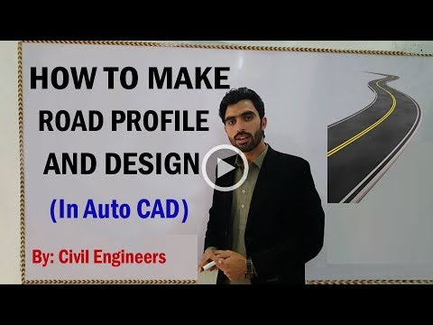 How to Make Road Profile in Auto CAD
