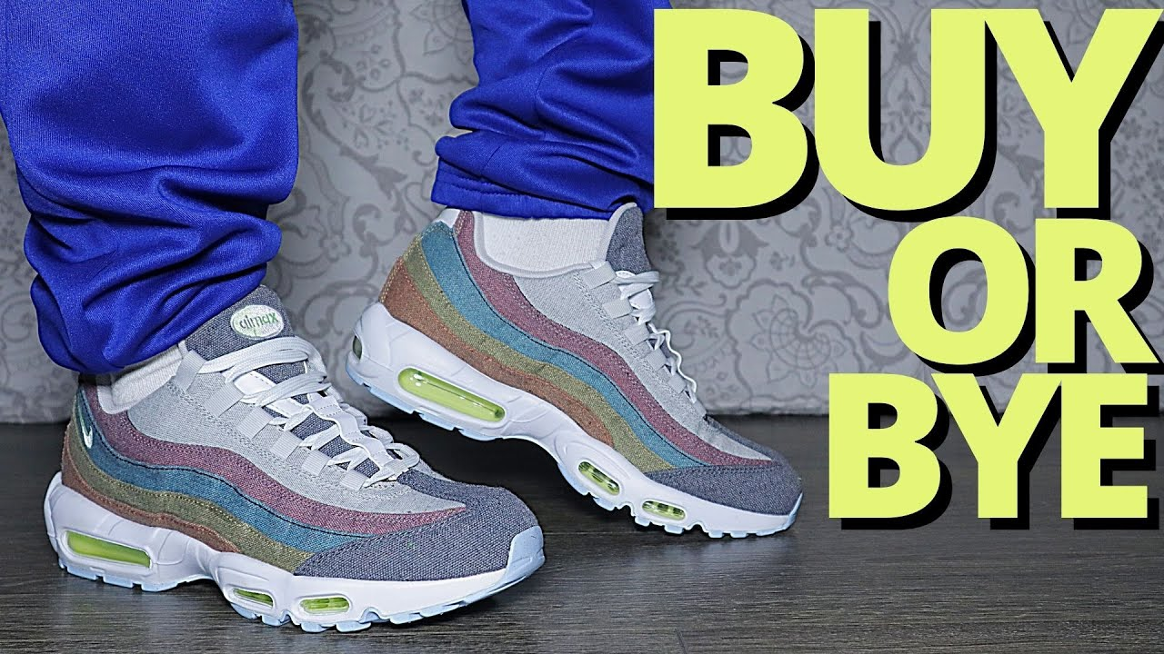 Nike AIR MAX 95 'RECYCLED CANVAS' On Foot Review