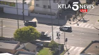 Police pursuit in Los Angeles ends in crash