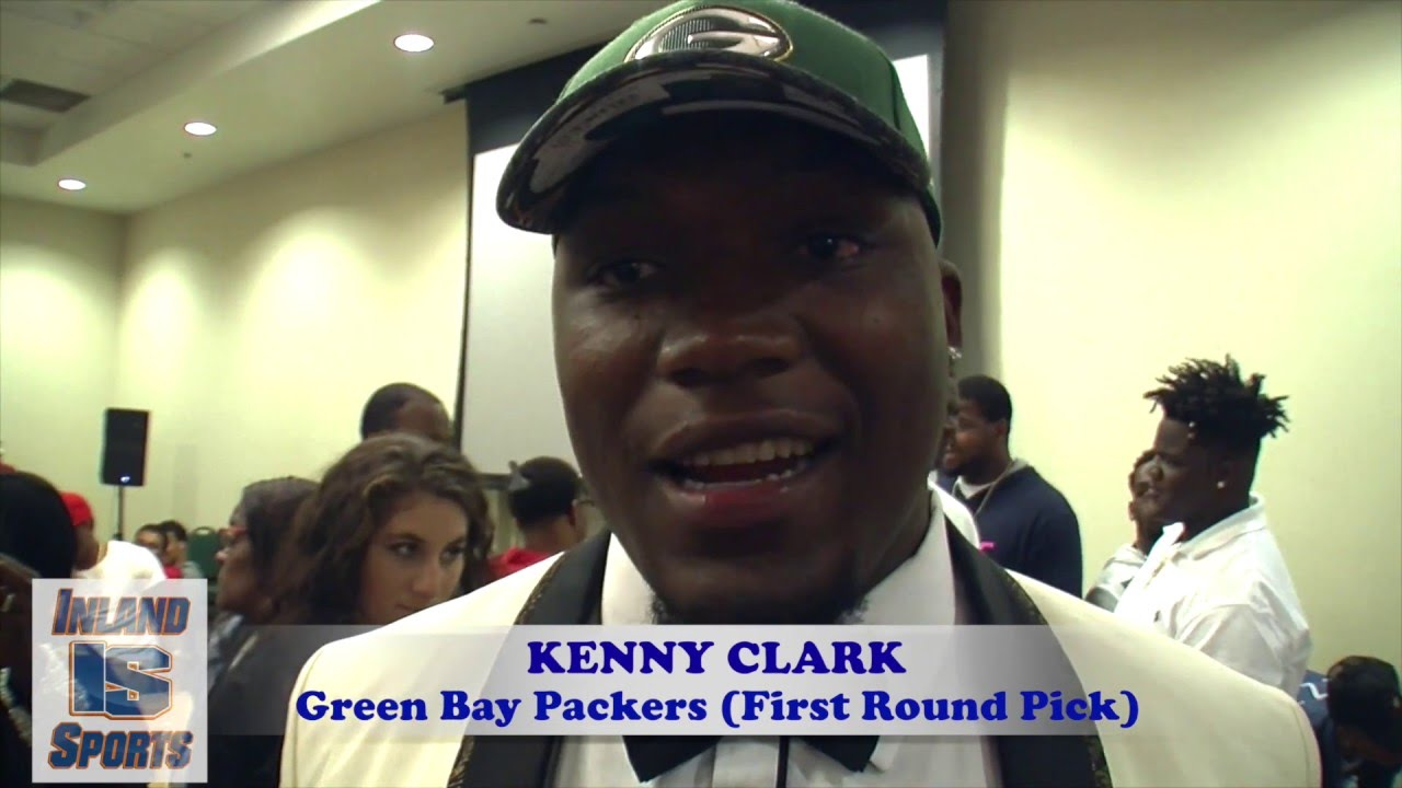 FOOTBALL  Green Bay Packers DT Kenny Clark Interview from NFL Draft Party -  YouTube d3d7309ccb3