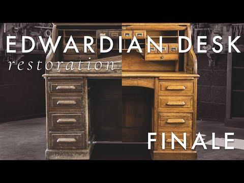 Antique Edwardian Desk Restoration EP. 3 (Completion)