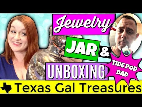 Gold! Goodwill Jewelry Jar Show and Tell 2018 - Jewelry Grab Bag Unboxing - Tide Pod Dad