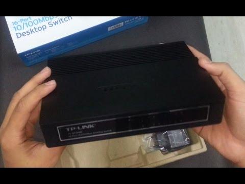 TP-Link TL-SF1016D 16-Port Fast Ethernet 10//100Mbps Unmanaged Desktop Switch