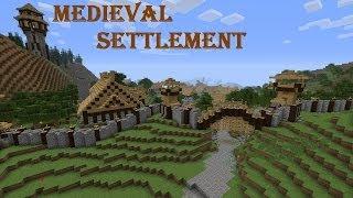 Minecraft: - Средневековый город \ Medieval Settlement!