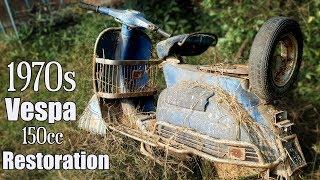 1961 Piaggio Italian 150cc Vespa Restoration | Tear down Old Vespa after 59 years