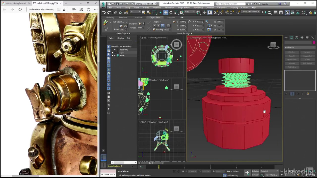 Creating The Base Cylinders 3ds Max Hard Surface Modeling From Linkedin Learning Youtube