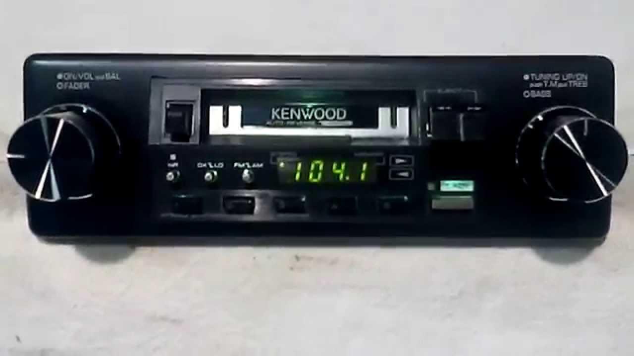 Vintage Kenwood Krc-3100 Am  Fm Cassette Car Stereo