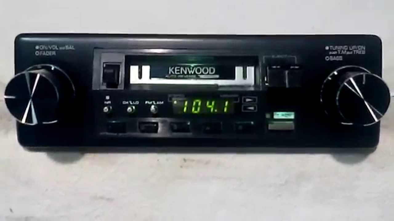 vintage kenwood krc 3100 am fm cassette car stereo [ 1280 x 720 Pixel ]