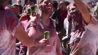 Holi Colors Festival at Basantapur, Nepal 2015