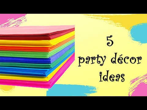 birthday-decoration-ideas-at-home-using-paper-|-5-diy-party-decor-ideas-|-paper-crafts