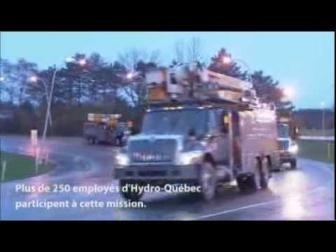 Ouragan Sandy : déploiement de monteurs d'Hydro-Québec aux États-Unis