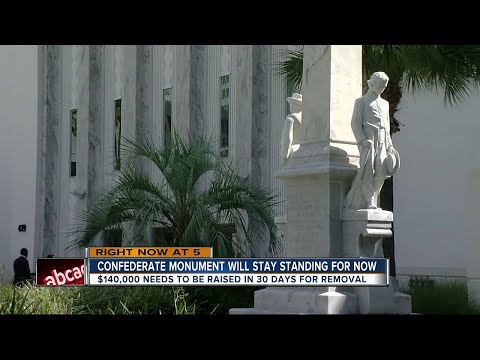 Hillsborough Board of County Commissioners say removing Confederate memorial is expensive