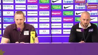 Pressekonferenz nach Austria Wien Wolfsberger AC