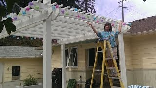 How to Hang Outdoor Party Lights...Weekend Warrior Project