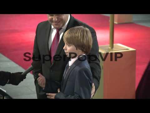 Daniel Huttlestone  at the World Premiere of Les Miserabl...