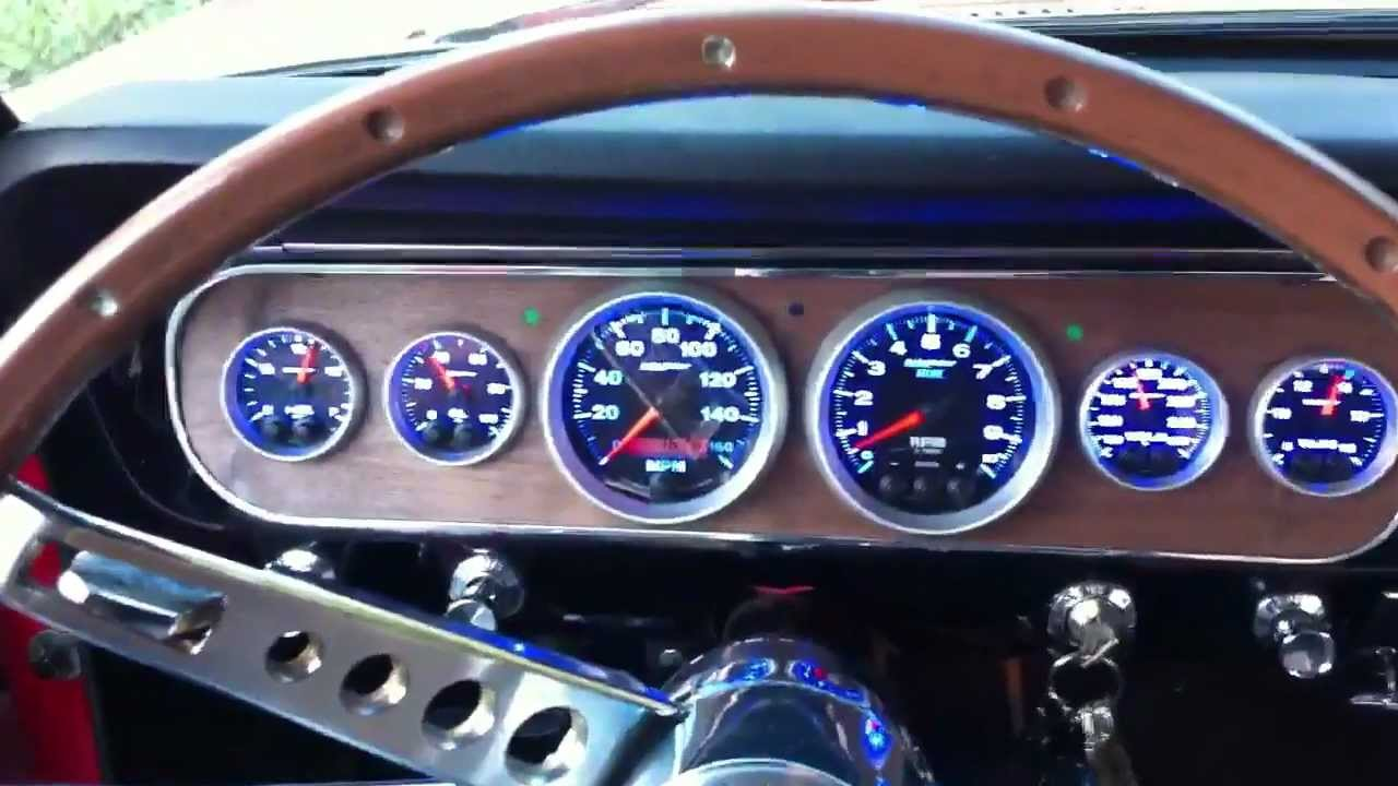 65 mustang jme gauges youtube
