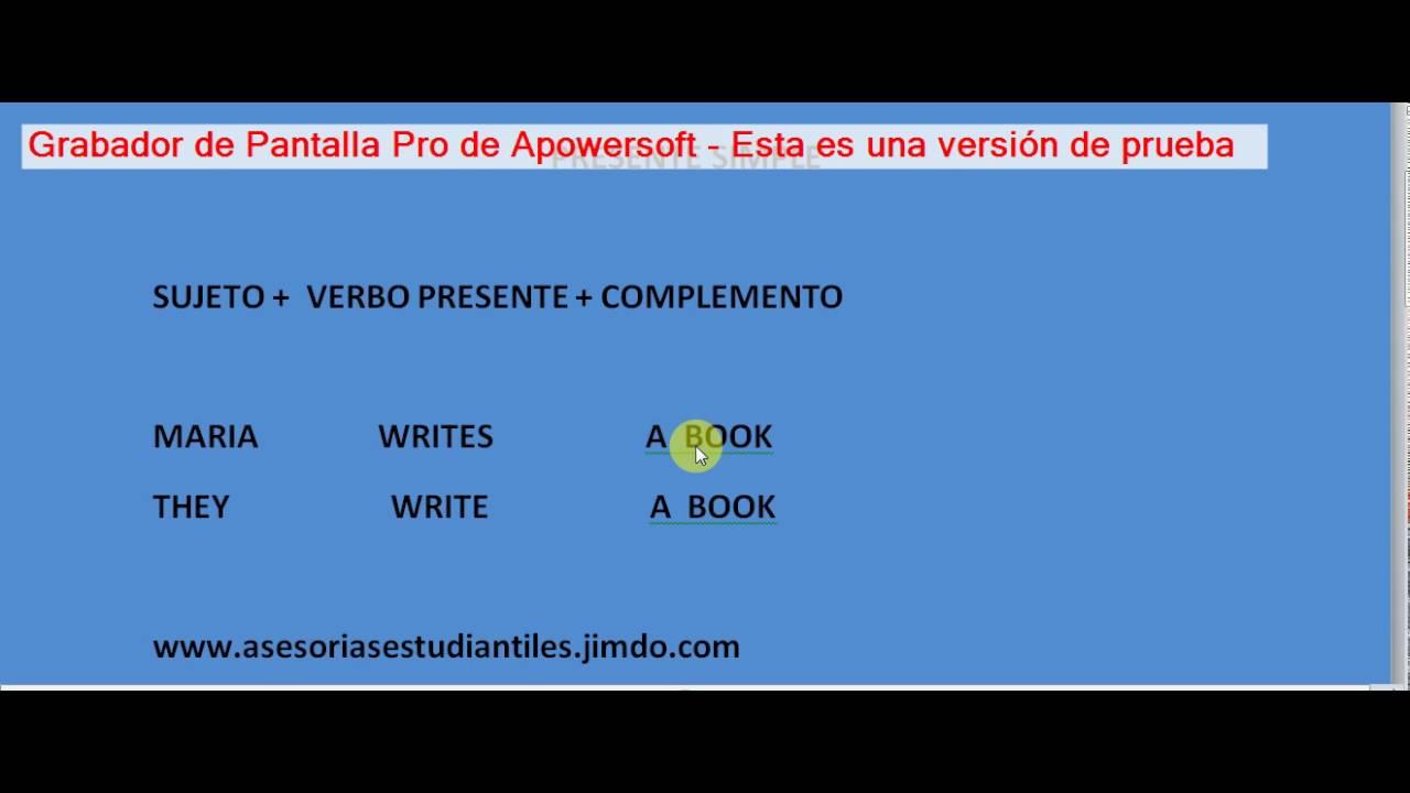 Estructura Gramatical Presente Simple En Ingles Forma