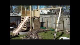Building The Kids A Home Made Play Structure