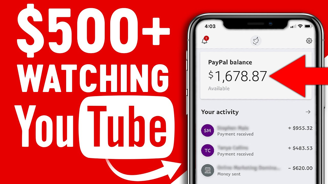 Earn 500 Watching YouTube Videos Available Worldwide Make Money Online