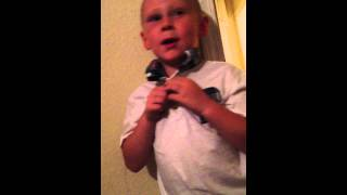 5 year old boy sings baby kaely! (Hunt them down)