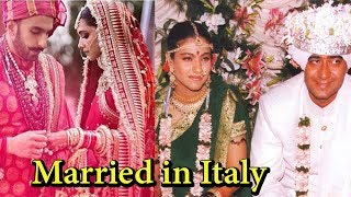 Bollywood Couples Who Got Married in Italy
