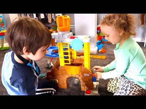 Twins Learn How To Properly Play With Preschool Toy