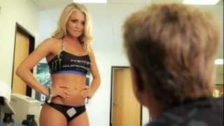 Supercross LIVE! 2012 - SX Ed with Miss Supercross - Episode 2 - A Distracted Mitch Payton