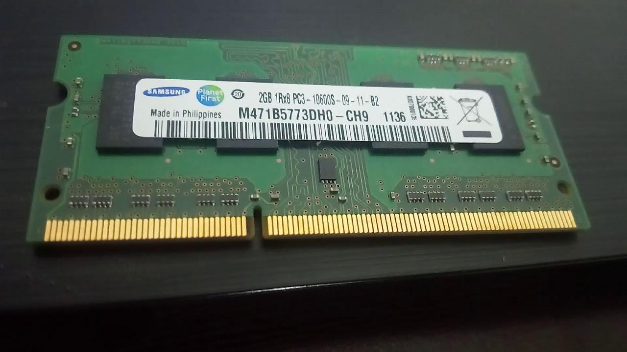 Memoria Ram Ddr3 1333 2 Gb Samsung Para Laptop Youtube