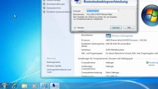 Windows 7 - Remote Desktop-Verbindung herstellen