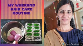 Weekend Hair Care Routine/ How to promote hair growth in bald areas tamil /Hair growth tips tamil