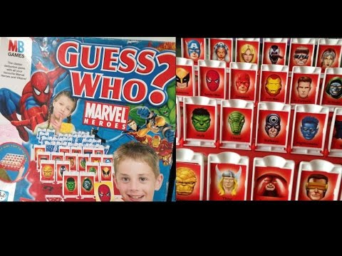 Guess Who Marvel Heroes Mb Games Rules Instructions Game Play