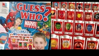 Guess who marvel heroes MB Games Rules Instructions & Game Play Spiderman Etc