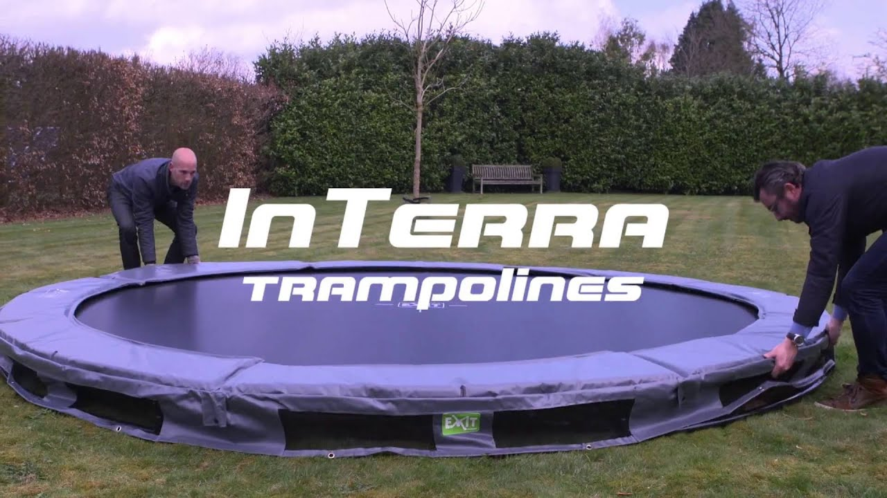 exit interra trampoline trampolin youtube. Black Bedroom Furniture Sets. Home Design Ideas