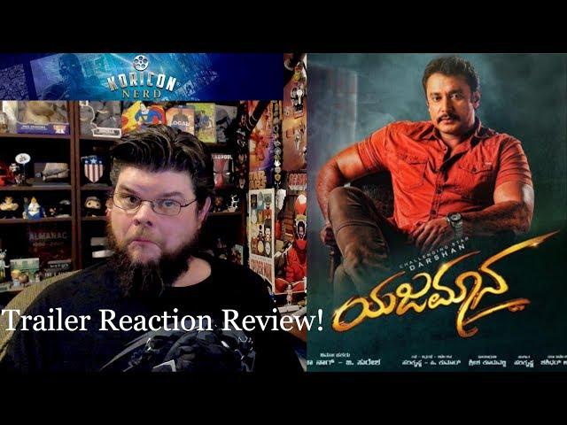 Yajamana - Kannada Trailer Reaction Review!